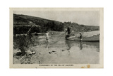 Fishermen by the Sea of Galilee, Palestine Photographic Print