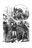 Stagecoach Robbery by Women Bandits Giclee Print