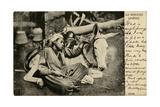 Arab Boy with Donkey, Egypt Photographic Print
