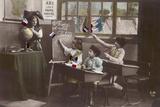 French Schoolkids Fotodruck