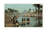 Flooding Near the Pyramids, Egypt Photographic Print
