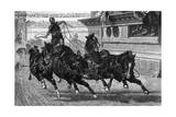 Ancient Roman Charioteer Driving Four Horses Giclee Print