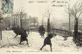 Montmartre, Snowballing Photographic Print