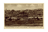 General View of Jerusalem with Mosque of Omar Photographic Print