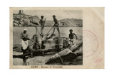 Arab Men with Crocodiles, Cairo, Egypt Photographic Print