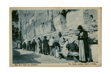 People at the Wailing Wall, Jerusalem Photographic Print