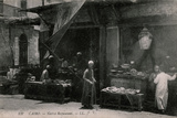 Cafe on a Street in Cairo, Egypt Photographic Print