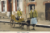 French Dog Cart Photographic Print