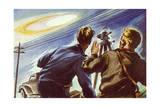UFOs, Hall, Boise Giclee Print