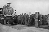 Opening of the Railway by King Faisal I of Iraq Photographic Print