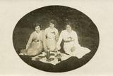 Three Ladies Picnic Photographic Print