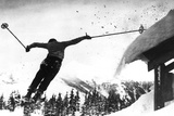 Flying Skier Photographic Print