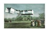 Santos-Dumont Biplane Giclee Print