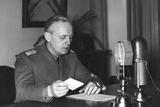 Ribbentrop Broadcasting Photographic Print