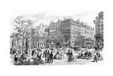 Paris, France - Boulevard Montmartre Giclee Print