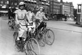 Danish Women Cyclist Fotoprint