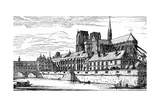Paris, France - Notre-Dame and Archbishop's Palace Giclee Print