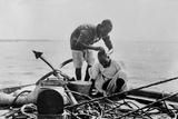 Nautical Barber Fotografisk tryk