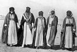 Group Containing King Faisal I and Fahad Beg Photographic Print