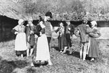 Czech Peasants Dancing Photographic Print