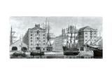 Liverpool Docks 1876 Lámina giclée