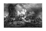 Fighting at Montmartre Giclee Print