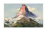 Swiss Alps, Matterhorn Giclee Print