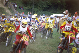 Motocross Scramblers Photographic Print