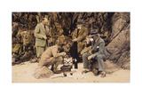 Men's Picnic on Shore Giclee Print