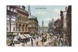 Leeds, Boar Lane 1905 Giclee Print