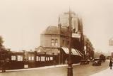 Entrance to Chelsea Football Ground, C. 1920 Fotografisk trykk
