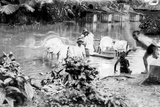 Washing in East Indies Photographic Print
