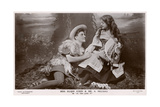 Rosalind and Orlando, 'As You Like It' Shakespeare Giclee Print