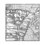 Map Egypt Giclee Print
