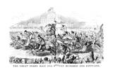The Great Derby Race for 1851 Giclee Print