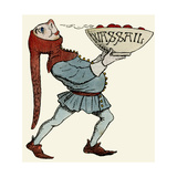 Jester Carrying a Wassail Bowl Giclee Print