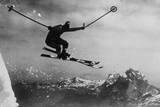 Athletic Skier Lámina fotográfica