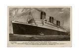 'Queen Mary' Ocean Liner Giclee Print