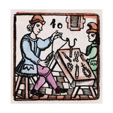 C17 Rosary Threading Giclee Print