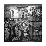 Francis Preaches Giclee Print