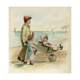 Wheelbarrow Ride Giclee Print