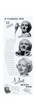 Advert for de Bret Beauty Masks 1934 Giclee Print