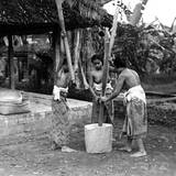 Balinese Flour Grinders Photographic Print
