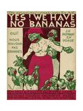 Racist, No Bananas 1923 Giclee Print