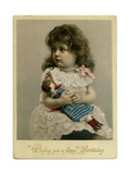 Girl and Doll, 1900 Giclee Print