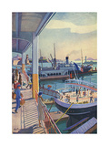 Marseille, Port 1931 Giclee Print