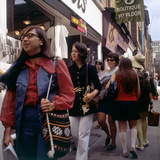 Carnaby Street Girls Photographic Print