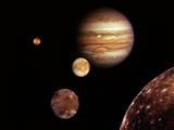 Jupiter and its Moons Photographic Print