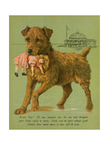 Dog Saves Doll from Sea Giclee Print