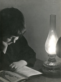 Reading by Lamp Photographic Print